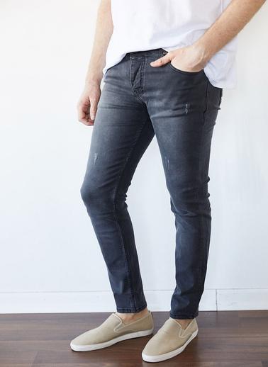 XHAN Yıkamalı Lacivert Slim Fit Jean Pantolon 1Kxe5-44254-48 Antrasit